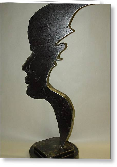 Talking Sculptures Greeting Cards - Voices Of Hope SOLD Greeting Card by Steve Mudge