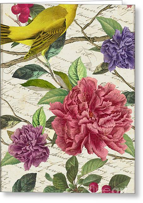 Voices Of Spring II Greeting Card by Mindy Sommers