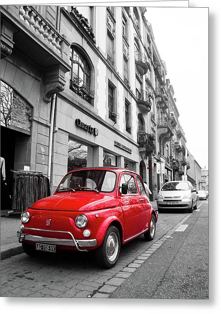 Voiture Rouge Greeting Card