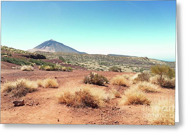 Volcan Teide Valley Greeting Card by Anastasy Yarmolovich