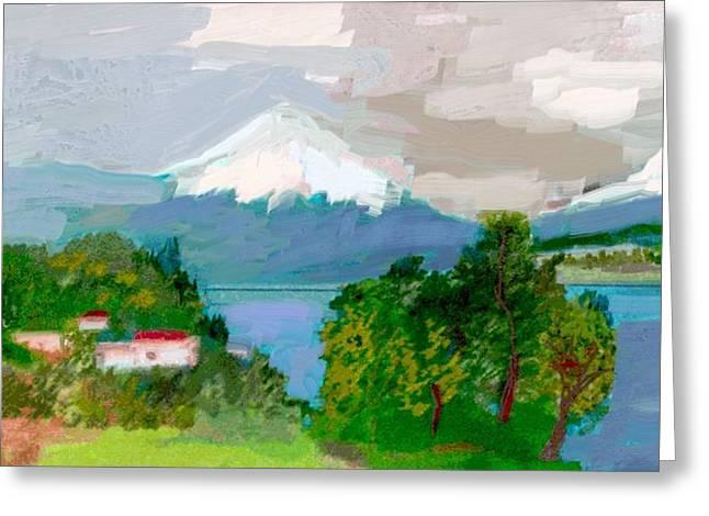 Volcanes Sur De Chile Greeting Card by Carlos Camus
