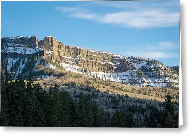 Volcanic Cliffs Of Wolf Creek Pass Greeting Card