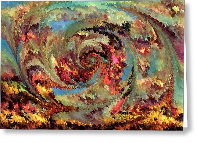 Volcanic Eruption Greeting Card by Rafi Talby