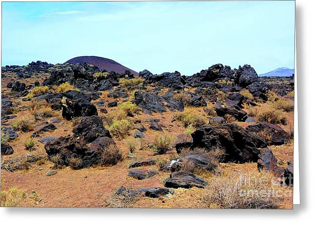 Volcanic Field Greeting Card