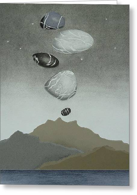 Volcanic Pebbles II Greeting Card