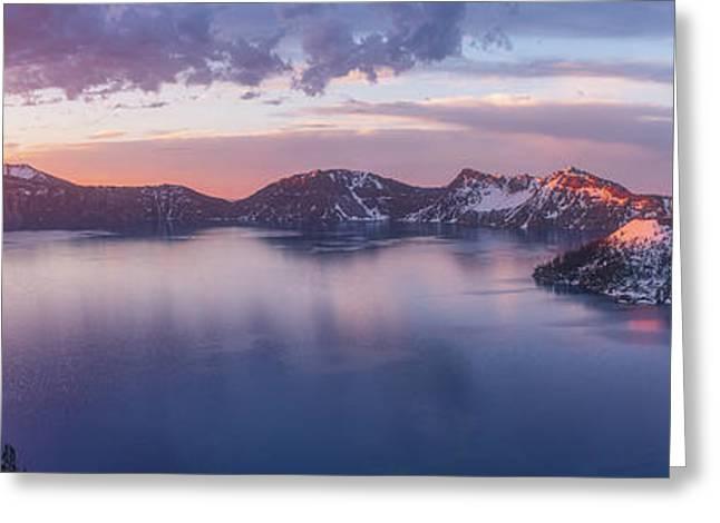 Volcanic Sunrise Greeting Card by Darren White