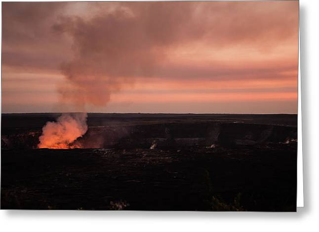Volcanic Sunset Greeting Card