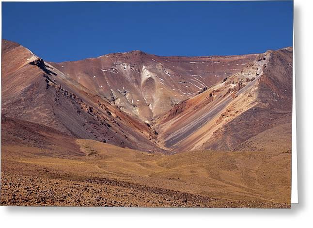 Volcano Crater In Siloli Desert Greeting Card