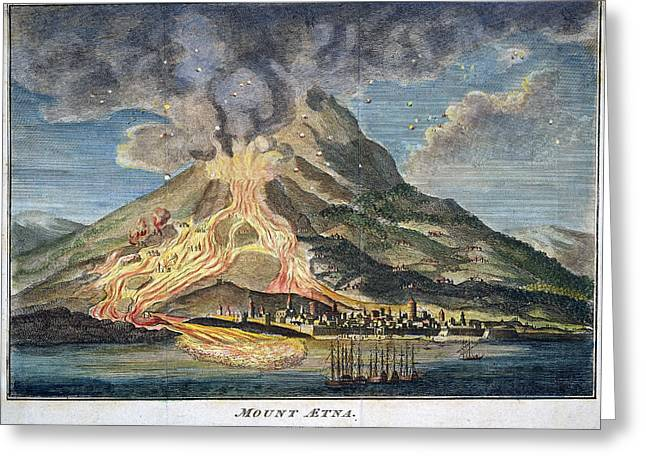 Volcano: Mt. Etna Greeting Card by Granger