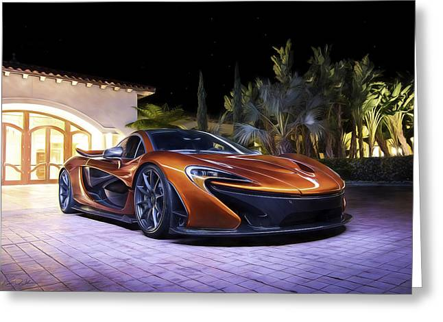 Volcano Orange Mclaren P1 Greeting Card