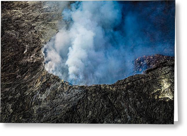 Another View Of The Kalauea Volcano Greeting Card