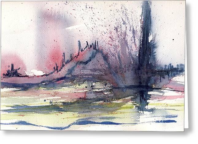 Volcano Greeting Card by Susan Mott