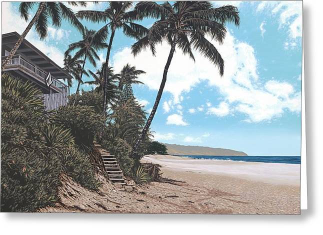 Volcom House Pipeline Greeting Card by Andrew Palmer