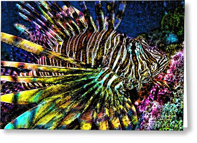 Volitan Lionfish Greeting Card by Jeff Breiman