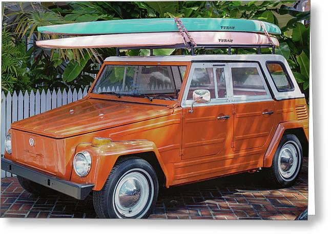 Volkswagen And Surfboards Greeting Card