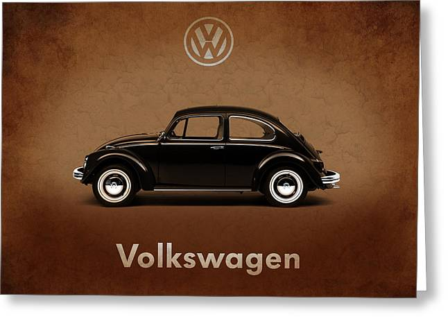 Volkswagen Beetle 1969 Greeting Card by Mark Rogan
