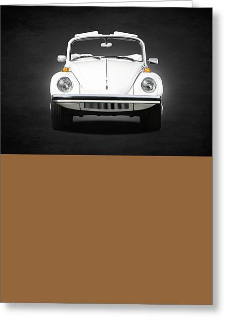 Volkswagen Beetle Greeting Card by Mark Rogan