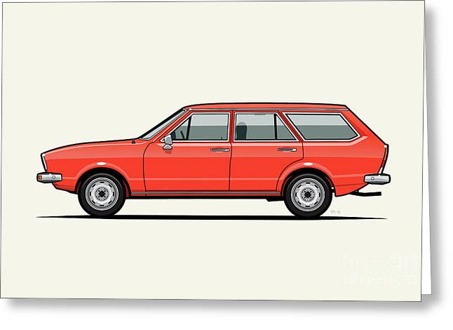 Volkswagen Dasher Wagon / Vw Passat B1 Variant Greeting Card