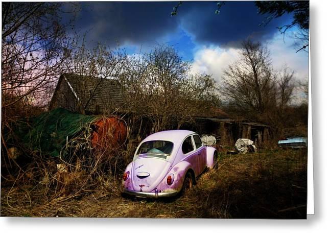 Volkswagen Graveyard Greeting Card
