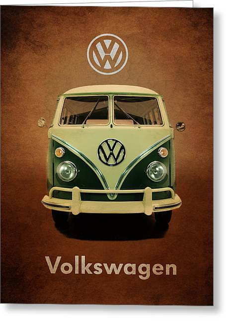 Volkswagen Greeting Cards - Volkswagen T1 1963 Greeting Card by Mark Rogan