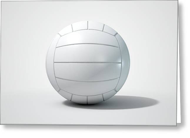 Volleyball Isolated Greeting Card by Allan Swart