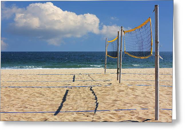 Volleyball Net Greeting Card by Boyan Dimitrov