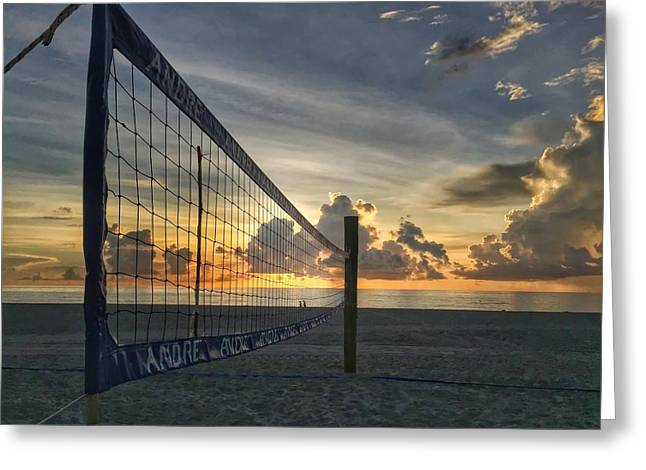 Volleyball Sunrise Greeting Card