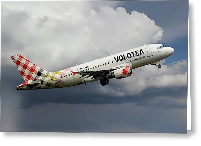 Volotea Airbus A319-112 Greeting Card