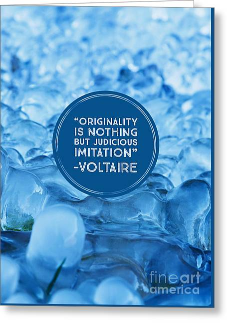 Voltaire Quote On Originality Greeting Card by Edward Fielding
