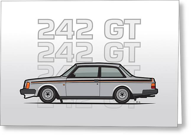 Volvo 242 Gt 200 Series Coupe Greeting Card by Monkey Crisis On Mars