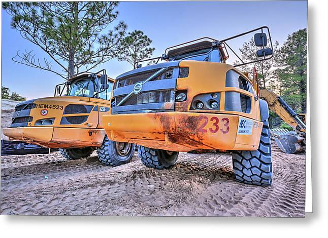 Volvo Heavy Equipment  Greeting Card by JC Findley