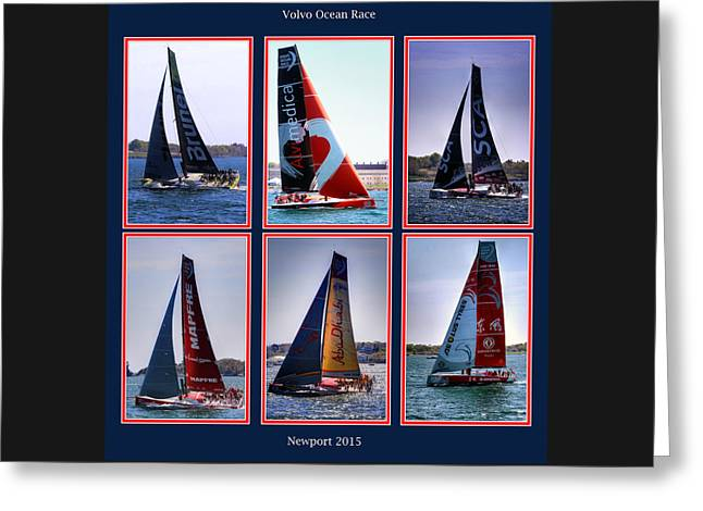 Volvo Ocean Race Newport 2015 Greeting Card