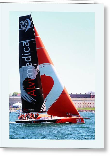 Volvo Ocean Race-team Alvimedica Greeting Card