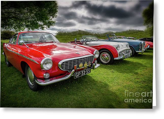Volvo P1800 Coupe  Greeting Card by Adrian Evans