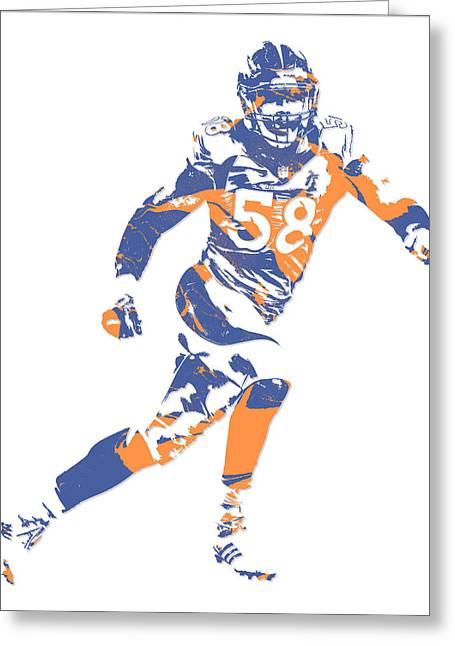 Von Miller Denver Broncos Pixel Art 11 Greeting Card