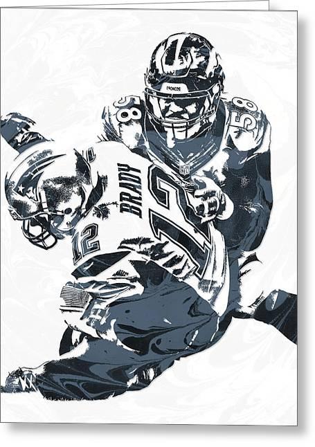 Von Miller Denver Broncos Pixel Art 5 Greeting Card