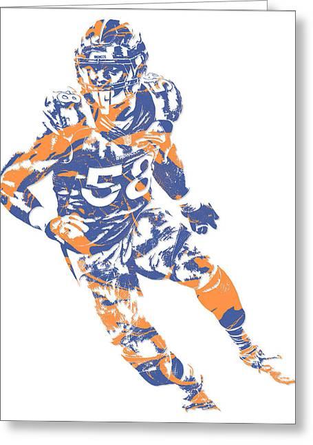 Von Miller Denver Broncos Pixel Art 6 Greeting Card