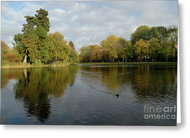 Vondelpark Greeting Card by Richard Wareham