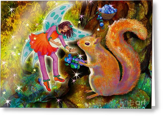 Vonita Twinkle With Forest Friends Greeting Card