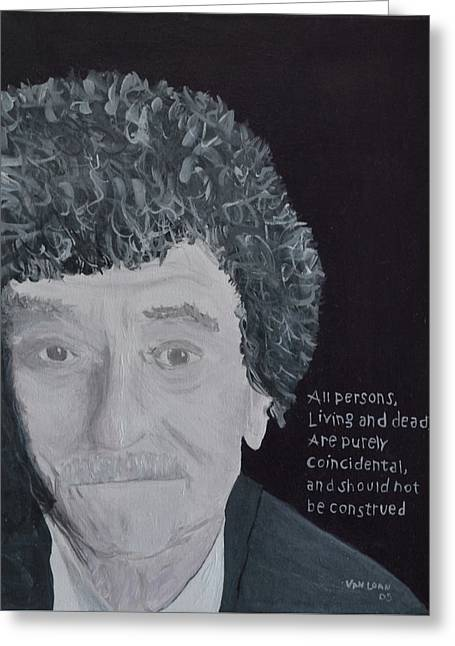 Vonnegut Greeting Card by Jay Van Loan
