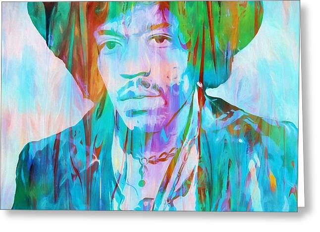 Voodoo Child Greeting Card by Dan Sproul