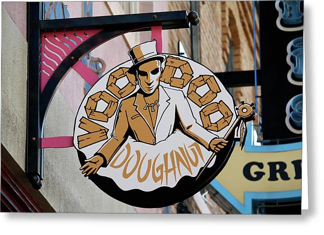 Voodoo Doughnut Greeting Card by Art Block Collections