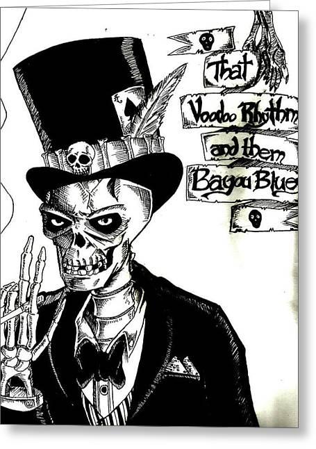 Voodoo Rhythm Greeting Card