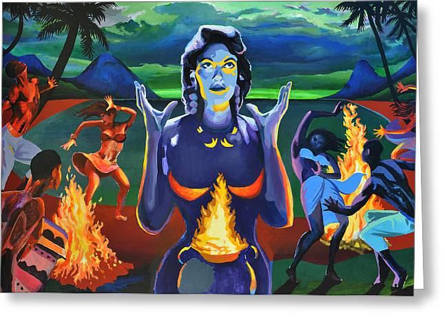Voodoo Woman Greeting Card by Geoff Greene