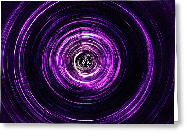 Vortex Into The Unknown Greeting Card