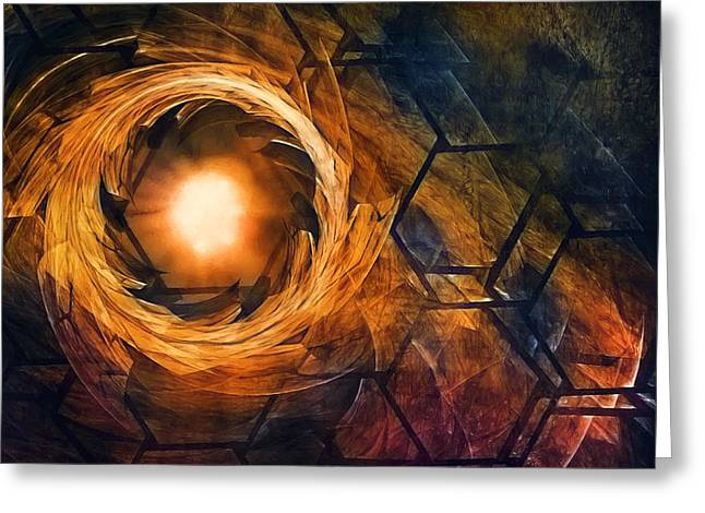 Vortex Of Fire Greeting Card