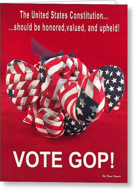 Vote Gop Greeting Card by Floyd Snyder