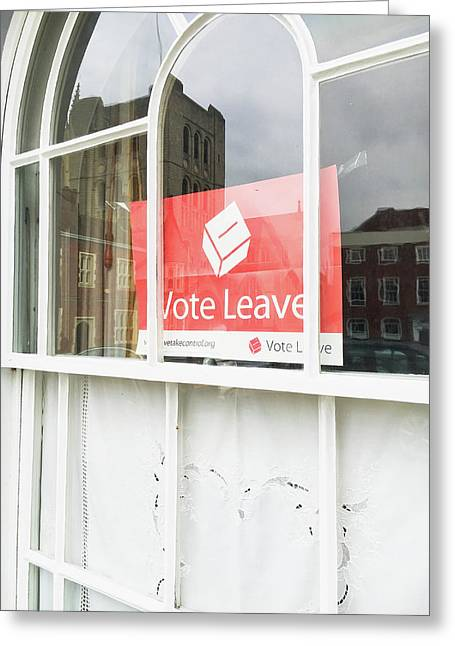 Vote Leave Greeting Card by Tom Gowanlock