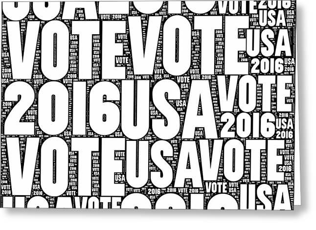 Vote Usa 2016 Greeting Card by Henrik Lehnerer