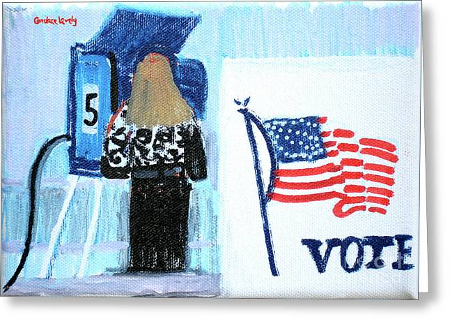 Voting Booth 2008 Greeting Card by Candace Lovely